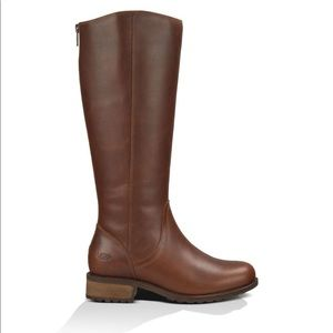 UGG Seldon Brown Leather Riding Boots 8